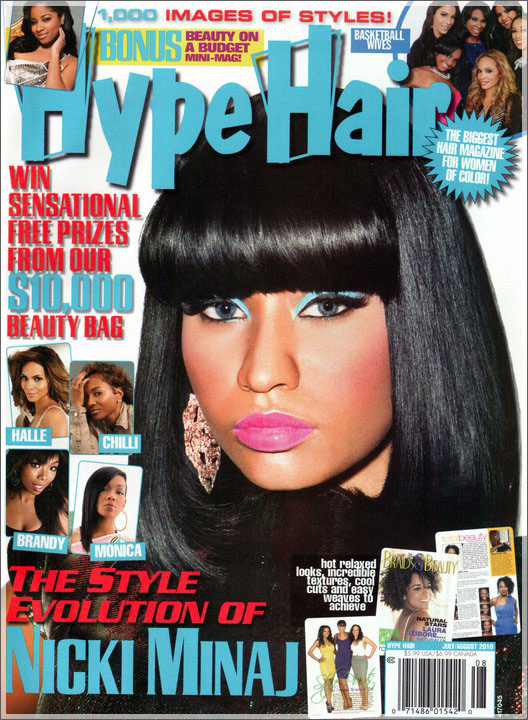 nicki minaj hair. Rapper Nicki Minaj covers the